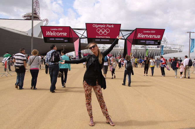 Art Director Elena Loga at London Olympic Games 2012