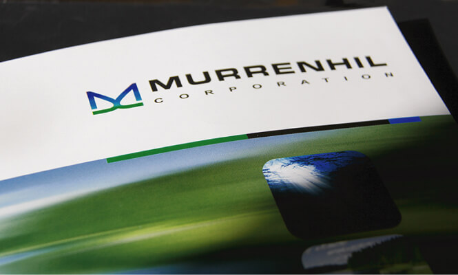 Murrenhil Corporation Presentation Folder designed by New Design Group Inc.