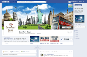 Facebook page design for travel company