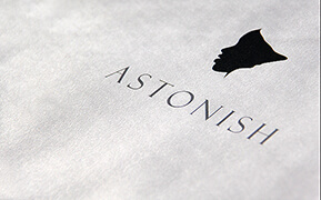 Astonish. Brand Identity Development. Signage Design. Packaging Design.