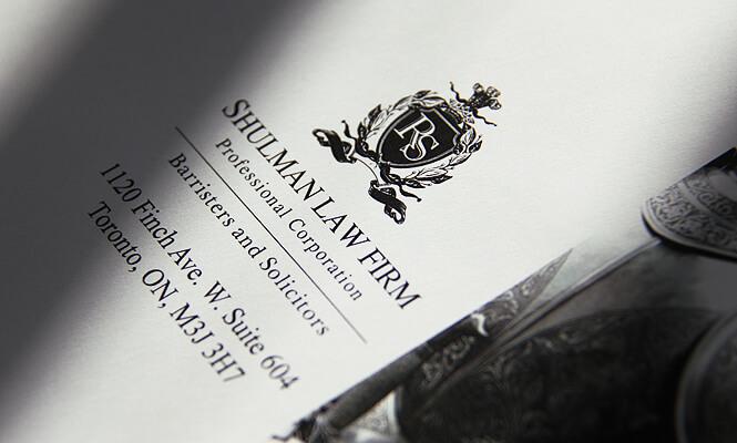 Shulman Law Firm logo design