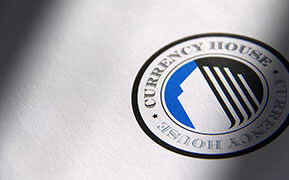 "Currency House. Logo Design. Website ""look and feel"" Design."