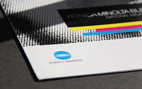 Konica Minolta. National Major Accounts Program. Brochures Design. Graphic Design.