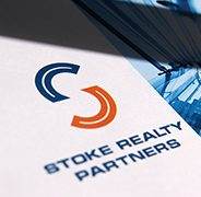 Stoke Realty Partners. Financial Company Logo Design. Graphic Design. Presentation Folder Development. Case Study.