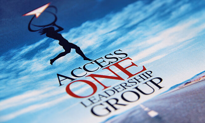 Access ONE Leadership Group logo design