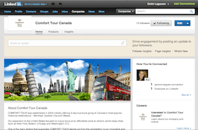 LinkedIn page design for travel company