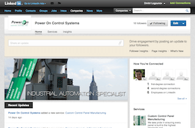LinkedIn Page design for business PowerOn
