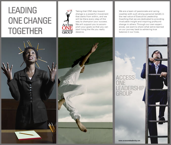 Access ONE Leadership Group brochure design