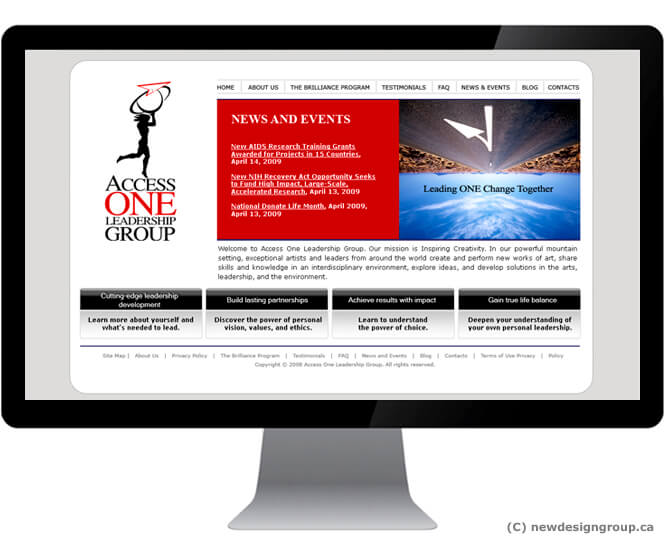Access ONE Leadership Group website design
