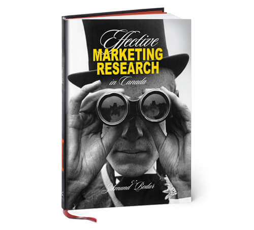 Effective Marketing Research in Canada textbook cover design photo