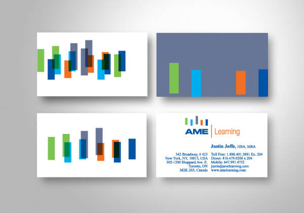 business cards images AME learning