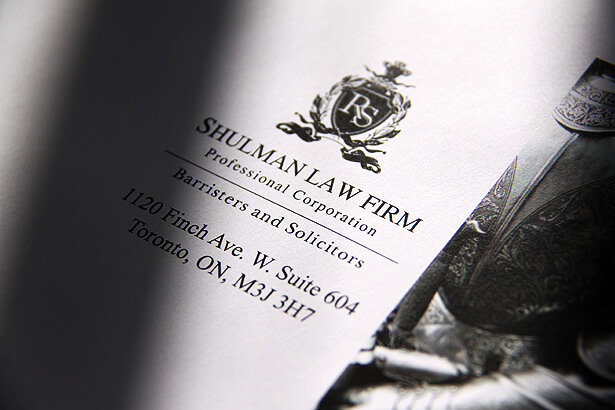 Shulman Law . Professional Corporation ID design