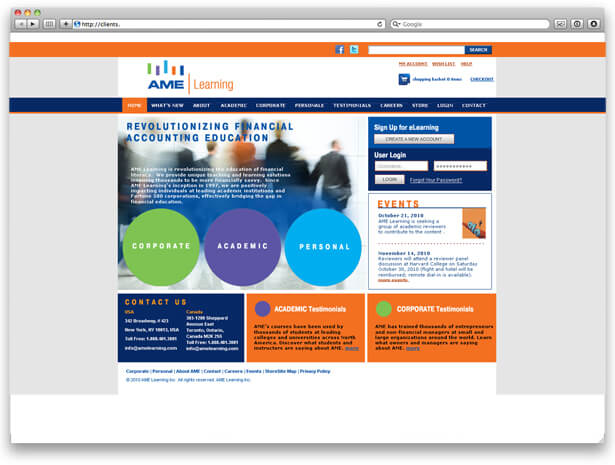 Website design for educational facility image