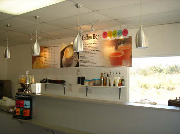design for ice cream shop interior photo