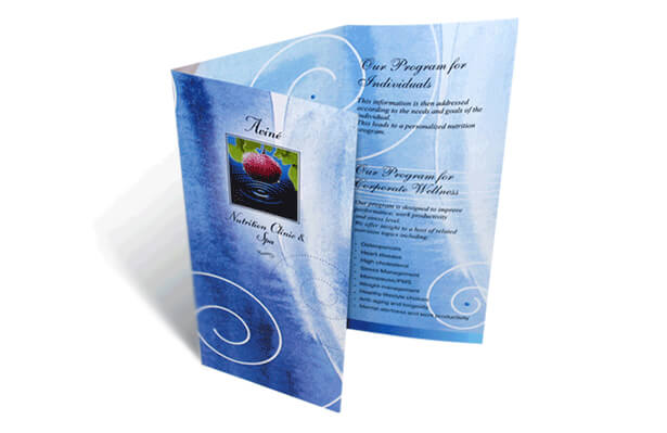 Aveno spa brochure design photo
