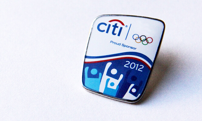 Citibank pin for summer Olympic games in London UK 2012