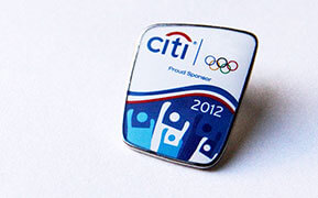 Citibank. Pin Design for Olympic Games in London UK. Case Study.