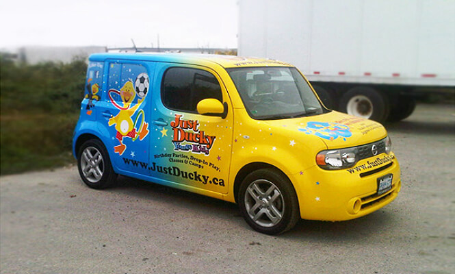 Just Duck Yonge Kids car advertising