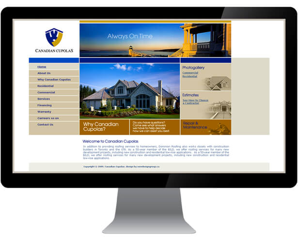 Web design for construction company by New Design Group