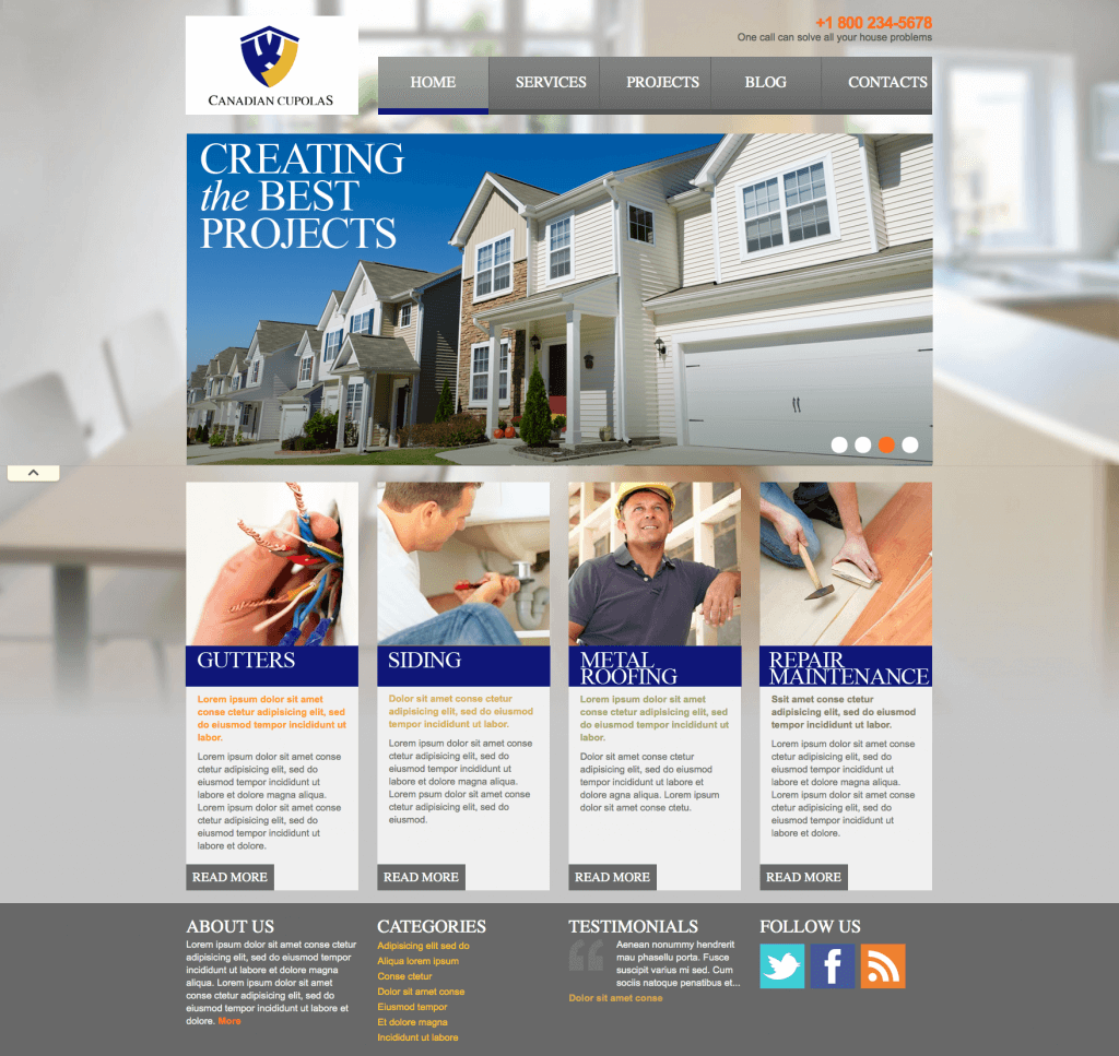 Web design for Cupola