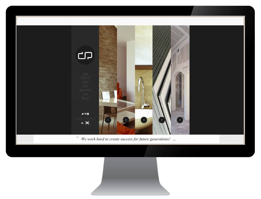 Construction company web design by New Design Group