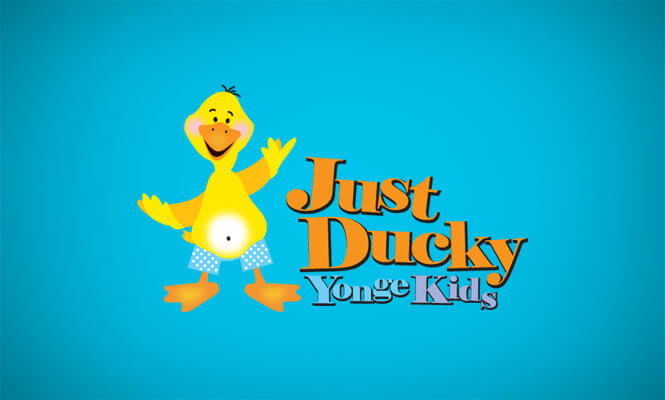 Just Ducky Yonge Kids logo design