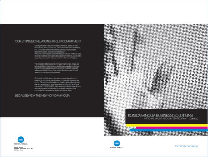 Konica Minolta brochure cover