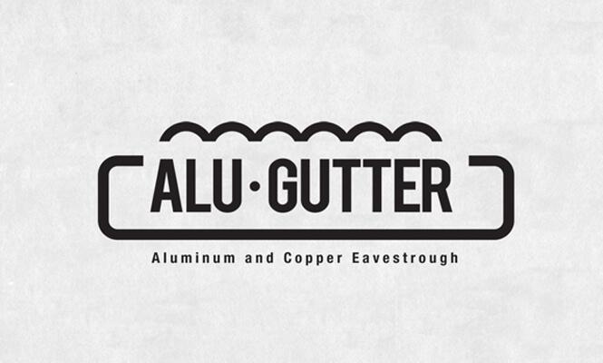 Alu-Gutter logo design