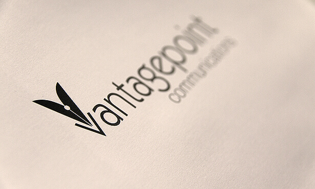 Vantage Point Communications logo design image
