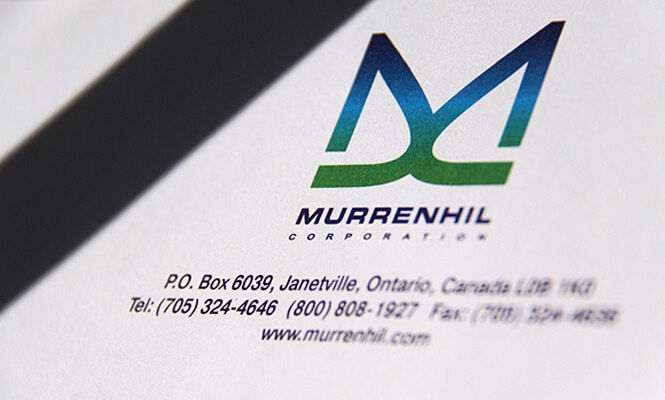 Murrenhil Corporation letterhead designed by New Design Group