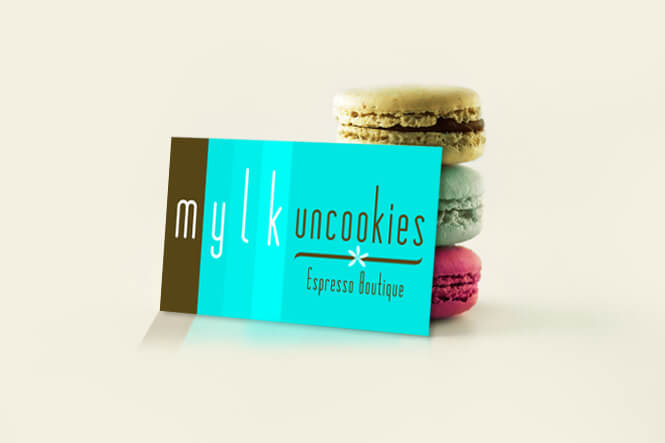mylk uncookies business cards design