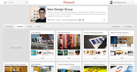 Pinterest business page setup and design
