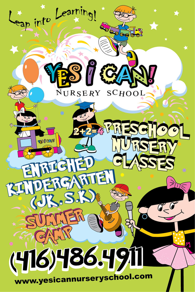 yes I can nursery school sign