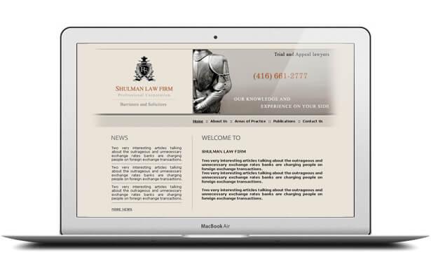 Shulman website design
