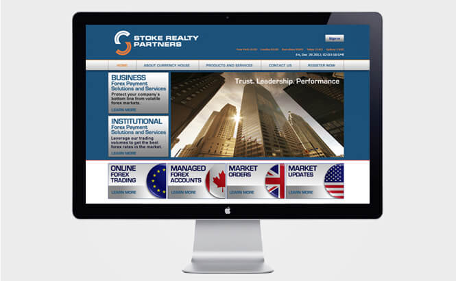 Stoke Realty Partners website design