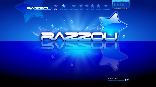 home page screenshot of Razzou company