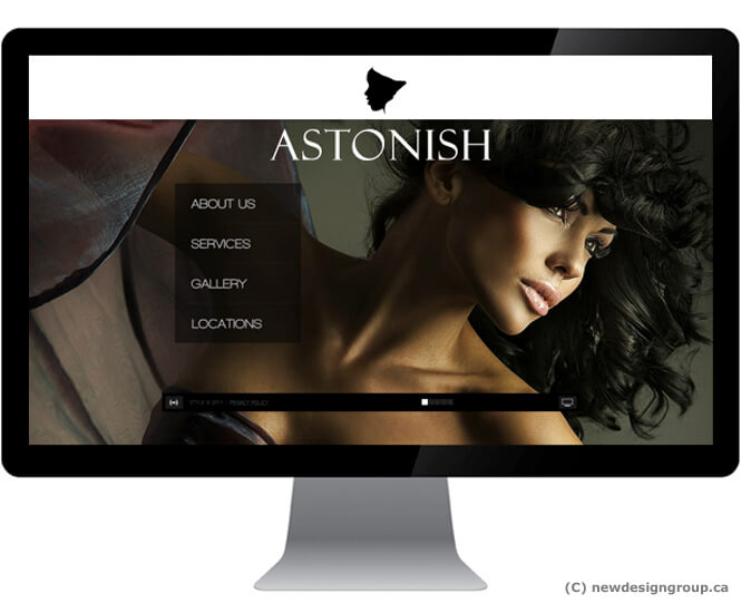 screenshot of Astonish website