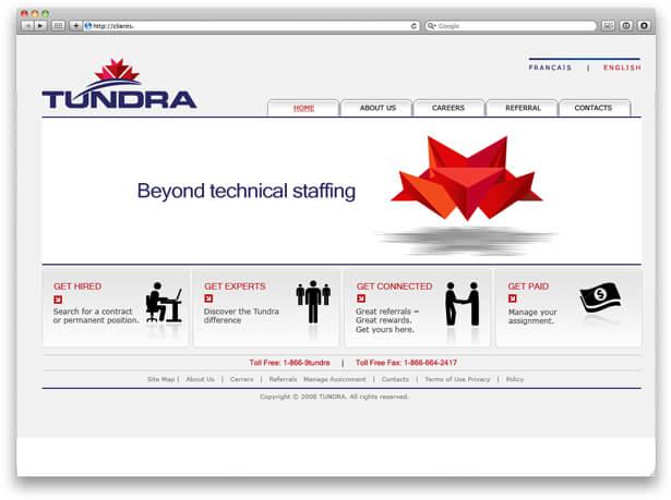 Tundra website screenshot