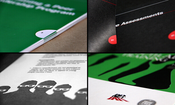 Four Images of different brochure layouts