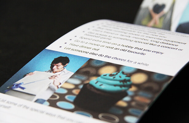 how to layout brochure text