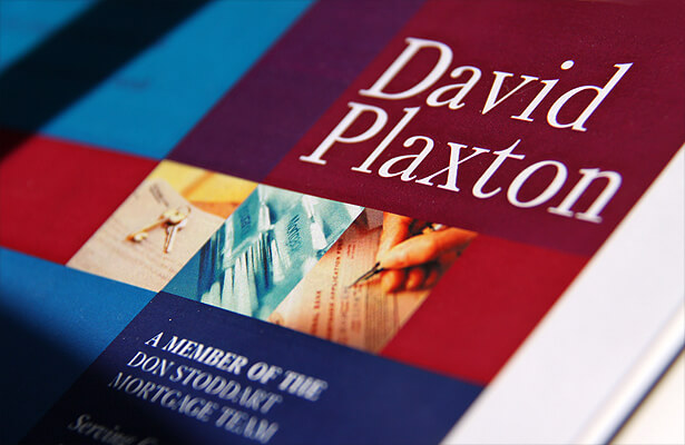 sample of brochure for David Plaxton, mortgage broker