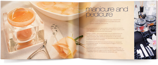 brochure design for spa image