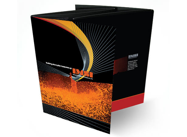 Presentation folder and inserts design for IMSI
