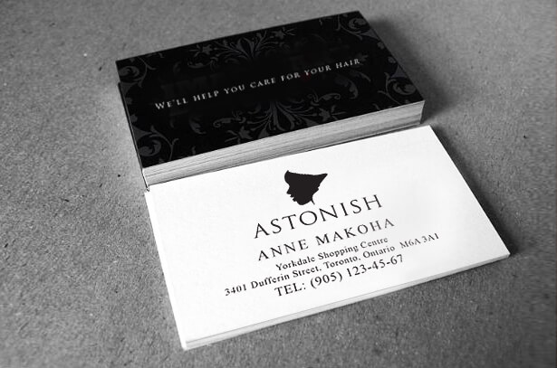 business card design for beauty business sample