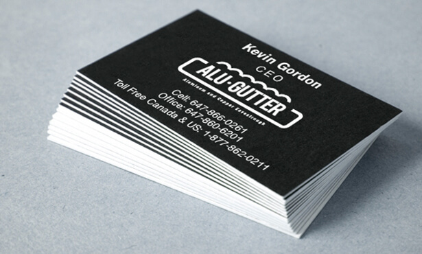 business cards for construction company in Toronto