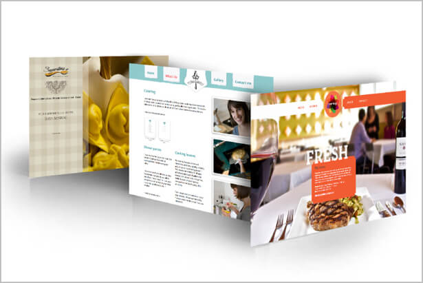 web design concepts for three companies