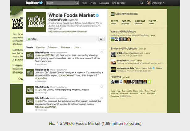 food business on twitter sample design