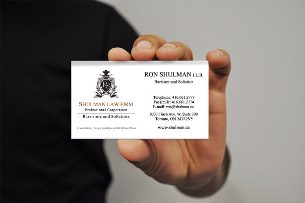 lawyer business card designed by New Design Group
