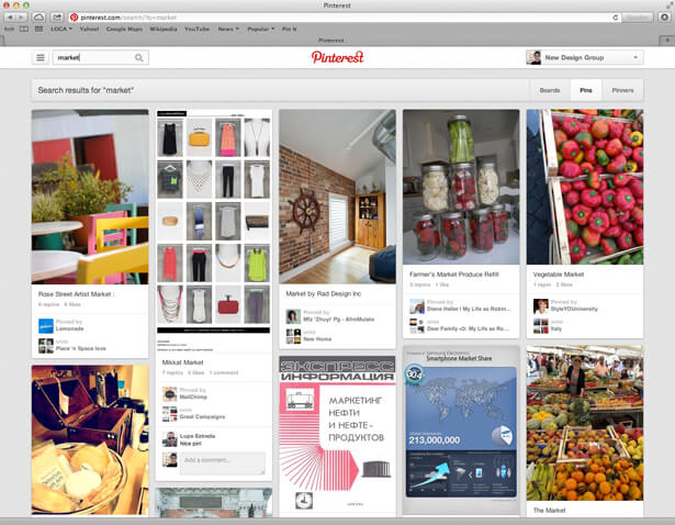 pinterest account screenshot