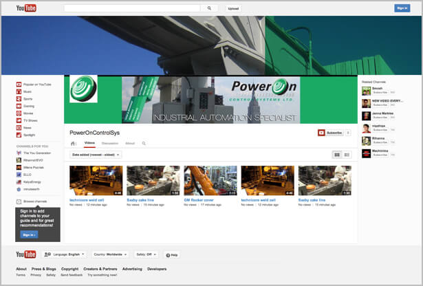 poweron youtube channel sample